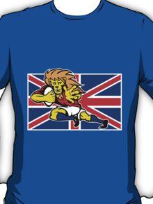 british lion rugby running ball T-Shirt