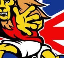 british lion rugby running ball Sticker