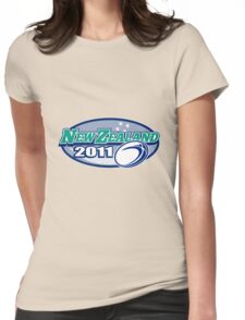 Rugby Ball New Zealand 2011 Womens Fitted T-Shirt