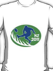 rugby player kicking ball new zealand 2011 T-Shirt