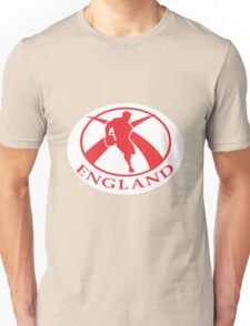 rugby player running with ball England flag Unisex T-Shirt
