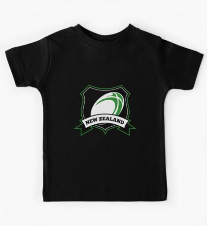 Rugby Ball New Zealand shield Kids Tee