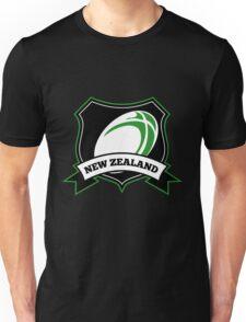 Rugby Ball New Zealand shield Unisex T-Shirt