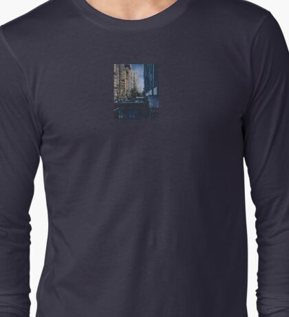 A Moment Hush in the City Limits, New York City Long Sleeve T-Shirt