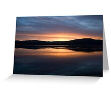 Dunmanus Bay Sunrise Sunset in Ireland 28 Greeting Card