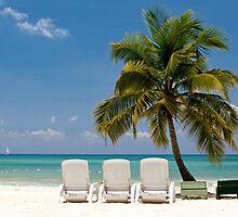 Caribbean Beach by Glennis  Siverson