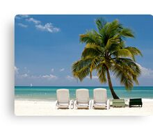 Caribbean Beach Canvas Print