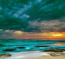 Bateau Bay Sunrise  by Mark  Lucey