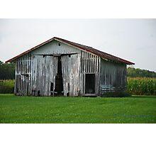 Corn Crib Photographic Print