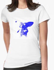 Mogwai - White/Blue Womens Fitted T-Shirt