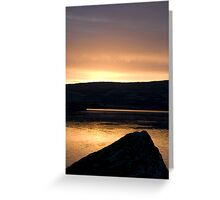 Dunmanus Bay Sunrise Sunset in Ireland 36 Greeting Card