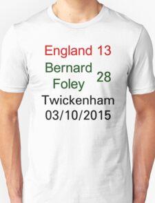 England 13 - 28 Bernard Foley - Twickenham 03/10/2015 T-Shirt