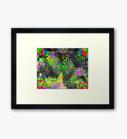 Psychedelic Fantasy Butterfly 1 Framed Print