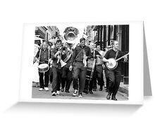 Walking Down Bourbon Street Greeting Card