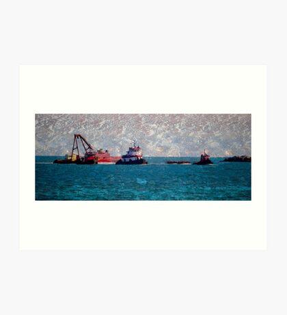 Tug Boat Art Print