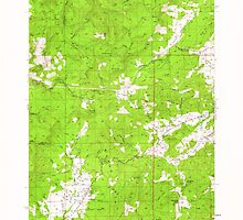USGS Topo Map Oregon Camas Valley 282298 1955 62500 by wetdryvac
