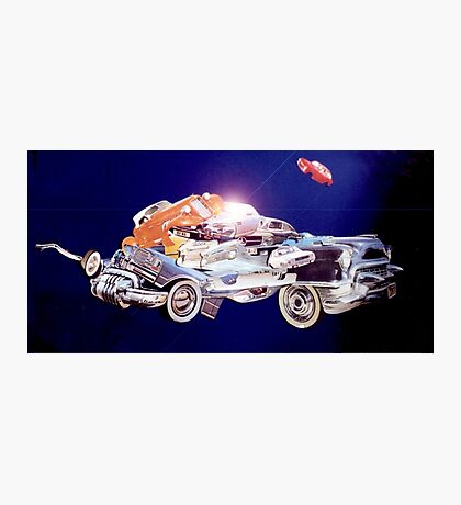 Car in Space. Photographic Print