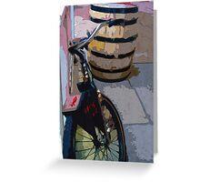Drunken Bike Greeting Card