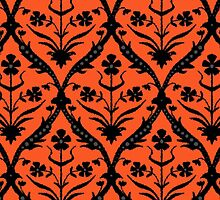 Halloween trellis ikat by Sharon Turner