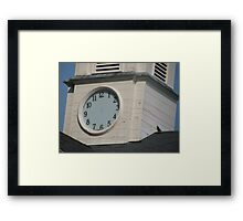 There's Just No Time Framed Print