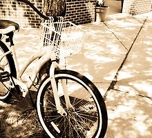 Sunshine Bicycle in Sepia Tones by Andrea Moffatt