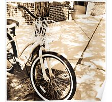 Sunshine Bicycle in Sepia Tones Poster