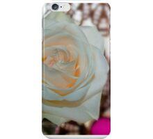 Single lovely white rose iPhone Case/Skin