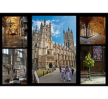 Canterbury Cathedral Collage Photographic Print