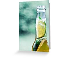 Corona with two limes Greeting Card