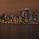 Chicago Skyline Panorama by Eddie Yerkish