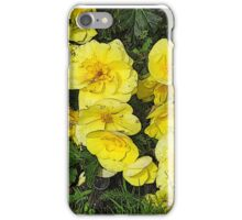 Cascading yellow flowers iPhone Case/Skin