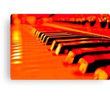 Hot Synth Keyboard Canvas Print
