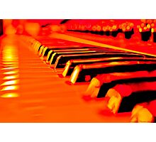 Hot Synth Keyboard Photographic Print