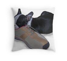 Buster sleeping Throw Pillow