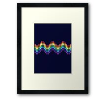 Retro Rainbow - Wave Framed Print