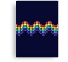 Retro Rainbow - Wave Canvas Print