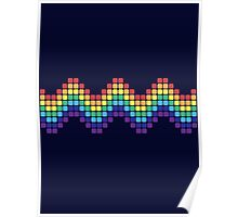 Retro Rainbow - Wave Poster
