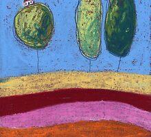 Three tree houses. by Tine  Wiggens