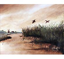 Among the Reeds - Oil painting (1978) Photographic Print