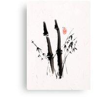 Sumi-e Bamboo Metal Print
