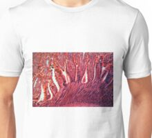 A section trough cells of a small intestine under the microscope. Unisex T-Shirt