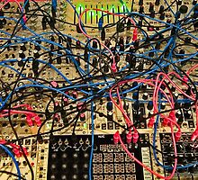 Synthesizer Control Panel Cable Maze by Jim Plaxco