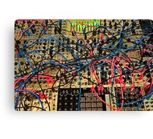 Synthesizer Control Panel Cable Maze Canvas Print
