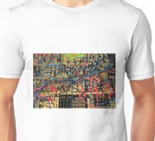 Synthesizer Control Panel Cable Maze Unisex T-Shirt