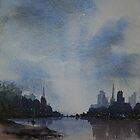 City skyline by Pauline Winwood