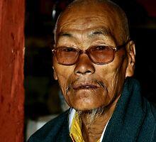 Old Man with a Beard, Bhutan  by Carole-Anne