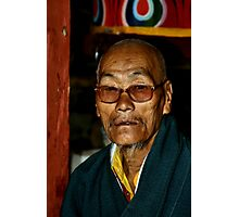 Old Man with a Beard, Bhutan  Photographic Print