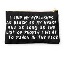 Eyelashes black and long Studio Pouch