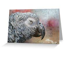 Parrot Portrait Texture Greeting Card