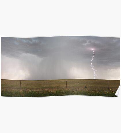 Colorado Lightning Storm Poster
